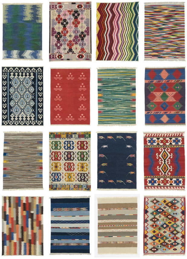 vegetable dyed hand woven Turkish kilim rugs